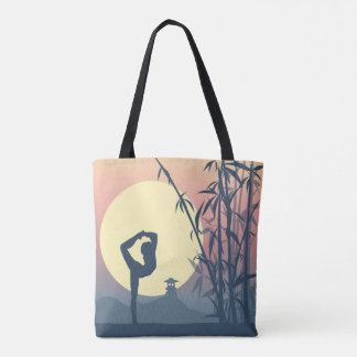 Yoga in the Mist Tote Bag