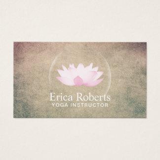 Yoga Instructor Elegant Glowing Lotus Wellness Business Card