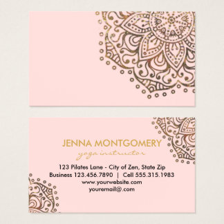 Yoga Instructor Gold  | Abstract Floral Mandala Business Card