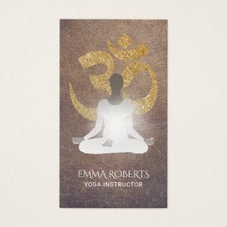 Yoga Instructor Gold Om Namaste Vintage Business Card