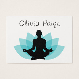 Yoga Instructor Meditation Lotus Flower Feminine Business Card