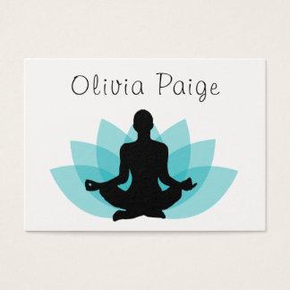 Yoga Instructor Meditation Lotus Flower Feminine Business Card