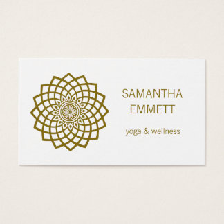 Yoga Instructor Minimalist Mandala Business Card