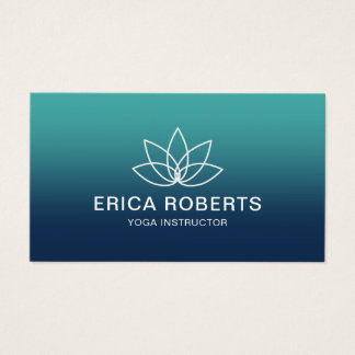 Yoga Instructor Modern Lotus Logo Elegant Business Card