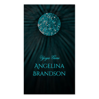 Yoga Instructor Shimmering Circle Business Card