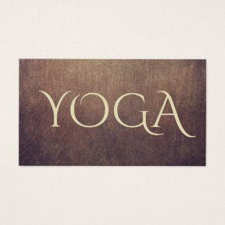 Yoga Instructor Vintage Gold & Leather Business Card
