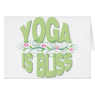 Yoga is Bliss Shirts Card