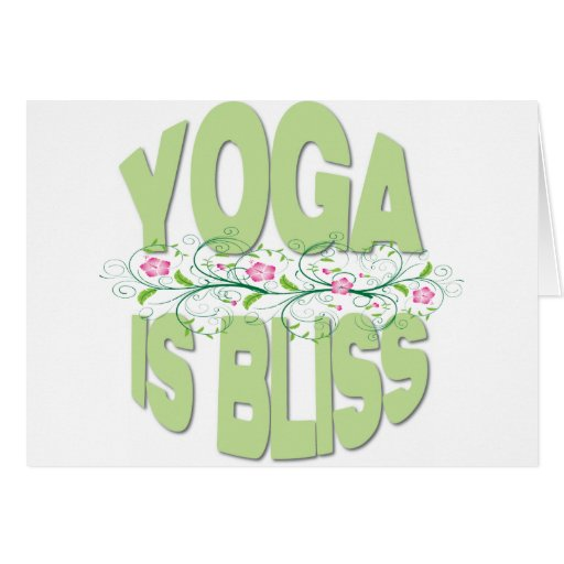 Yoga is Bliss Shirts Cards