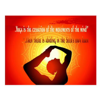 """Yoga is the cessation of the movements of mind"" Postcard"