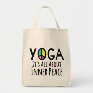 Yoga It's All About Inner Peace Tote Bag