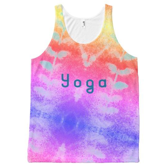 yoga leafy All-Over print singlet
