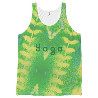 yoga leafy All-Over print singlet