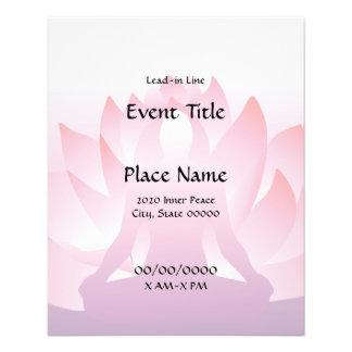 Yoga Lotus Small Event Flyer