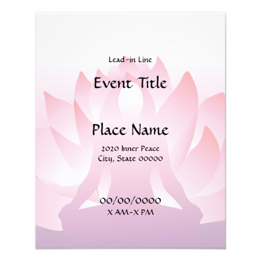Yoga Lotus Small Event Flyer