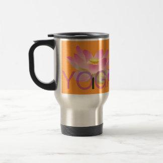 yoga lotus travel mug