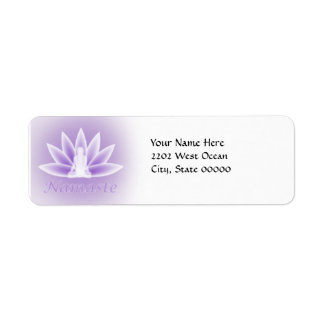 Yoga Lotus Woman Flower Violet Return Address Return Address Label