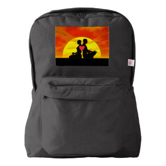 Yoga love - 3D render Backpack