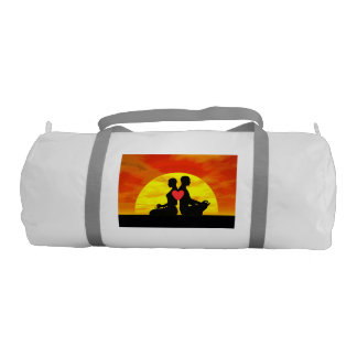 Yoga love - 3D render Gym Bag