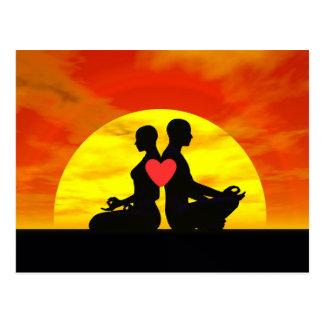 Yoga love - 3D render Postcard