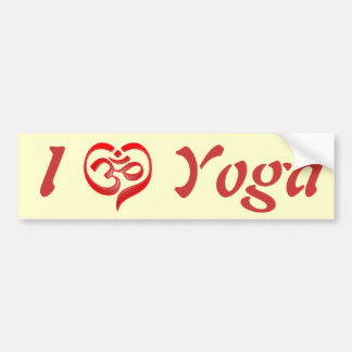 Yoga Love Bumper Sticker