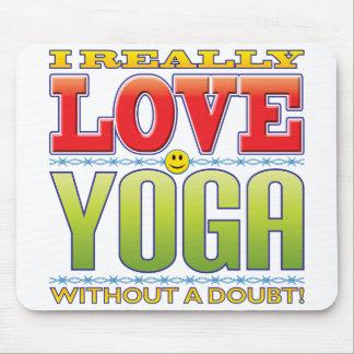 Yoga Love Face Mousepad