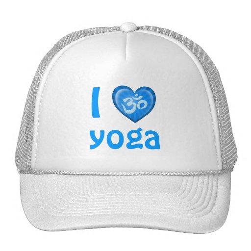 Yoga Love Heart Om Blue Hats
