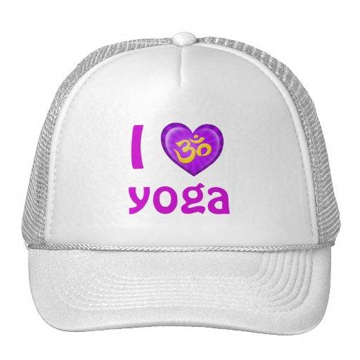 Yoga Love Heart Om Purple and Yellow Mesh Hat