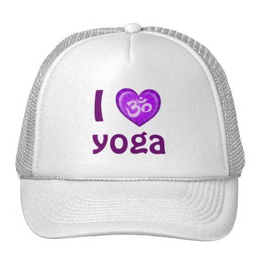 Yoga Love Heart Om Purple Hat
