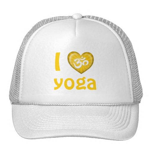 Yoga Love Heart Om Yellow Trucker Hats