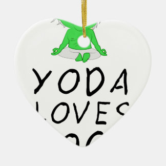 yoga loves yoga ceramic heart decoration
