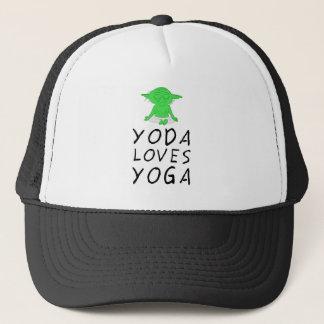 yoga loves yoga trucker hat