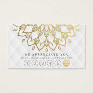 Yoga Loyalty 6 Punch Gold Mandala White Leather