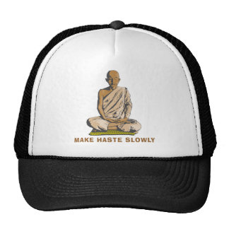 Yoga Make Haste Slowly Hat