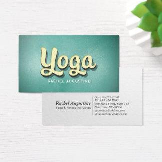 Yoga Mediation Instructor Vintage 3D Bold Text Business Card