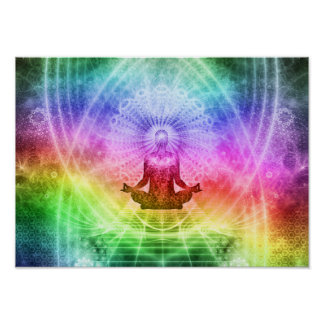 Yoga Meditation Buddhist Nirvana Inspirational Poster