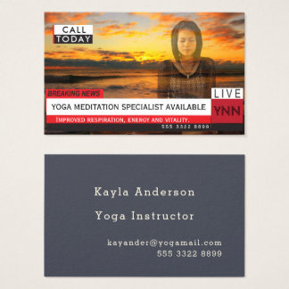 Yoga Meditation Fake News Graphic Photo Template Business Card