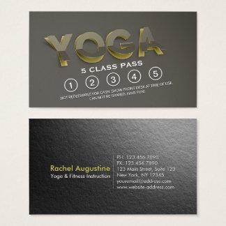 Yoga Meditation Instructor Class Pass 3D Paper Cut Business Card