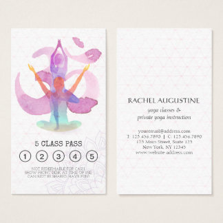 Yoga Meditation Instructor Class Pass Loyalty Card