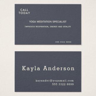 Yoga Meditation Minimalist Indigo Ivory Business Card