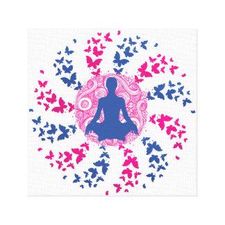yoga meditation positive energy  peace of mind canvas print