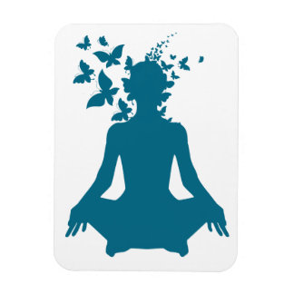 yoga meditation positive energy  peace of mind fre magnet
