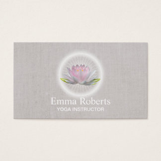 Yoga & Meditation Therapy Spa Glowing Lotus Business Card