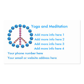 Yoga Meditation Tranquility Business Card