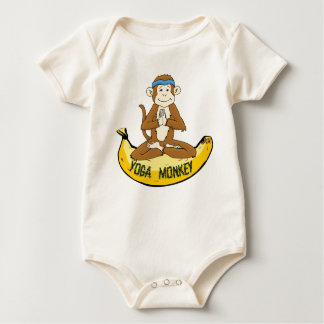 Yoga Monkey Baby Bodysuit