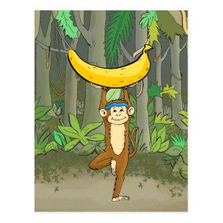 Yoga Monkey Postcard
