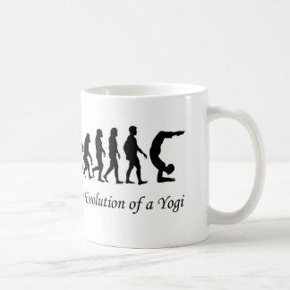 """Yoga mug  """"Evolution of a Yogi"""" humor"""