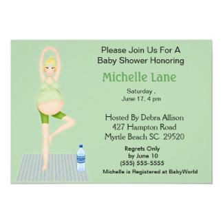 Yoga Mum Baby Shower  Invitation