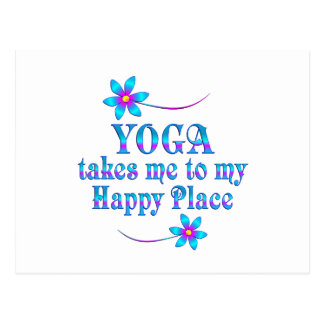 Yoga My Happy Place Postcard