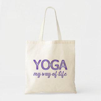 Yoga My Way of Life Purple Shiny Look Typography