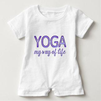 Yoga My Way of Life Purple Shiny Look Typography Baby Bodysuit